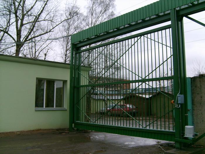 Откатные подвесные ворота